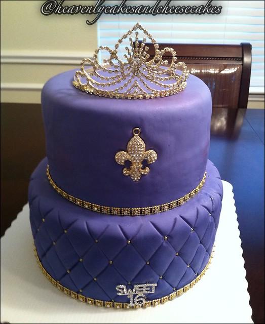 Bling Cake, Purple Wedding Cake, Purple