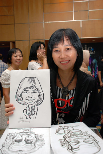 caricature live sketching for Civica Dinner & Dance 2012 - 7