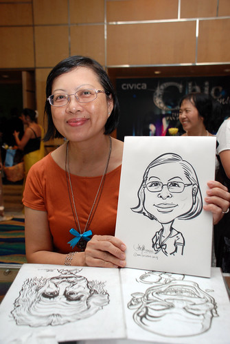 caricature live sketching for Civica Dinner & Dance 2012 - 8