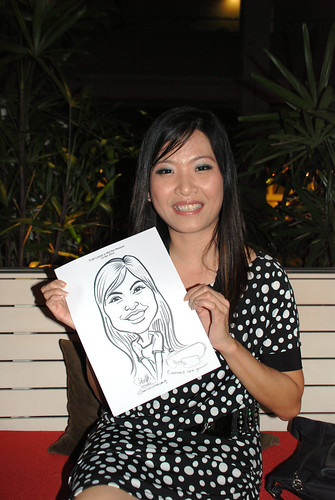caricature live sketching for Kaleido Vision Pte Ltd Product Launch - 8