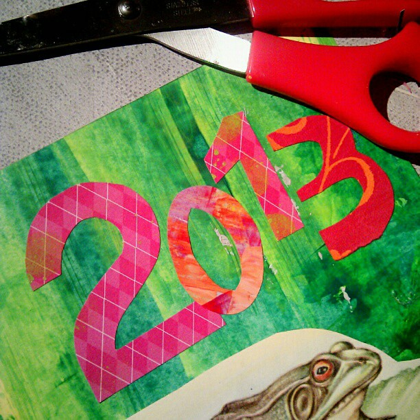 Art journaling in the new year