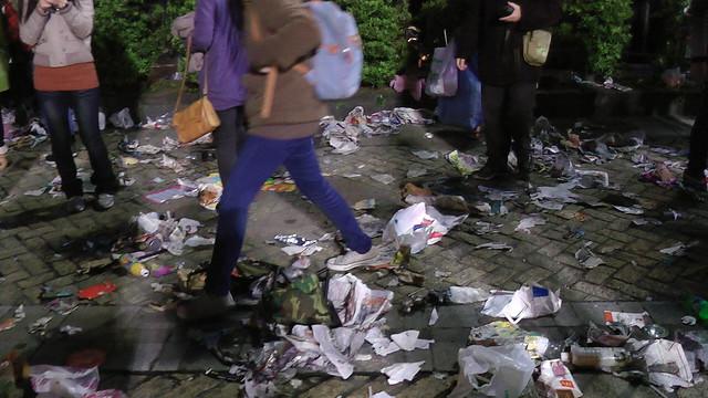 2013台北市跨年晚會垃圾-201301010136-洪惠璟攝-6