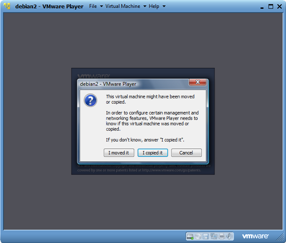 Clone VMware Player VM