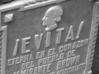 Placa de la tumba de Eva Perón, Evita (Cementerio de la Recoleta)