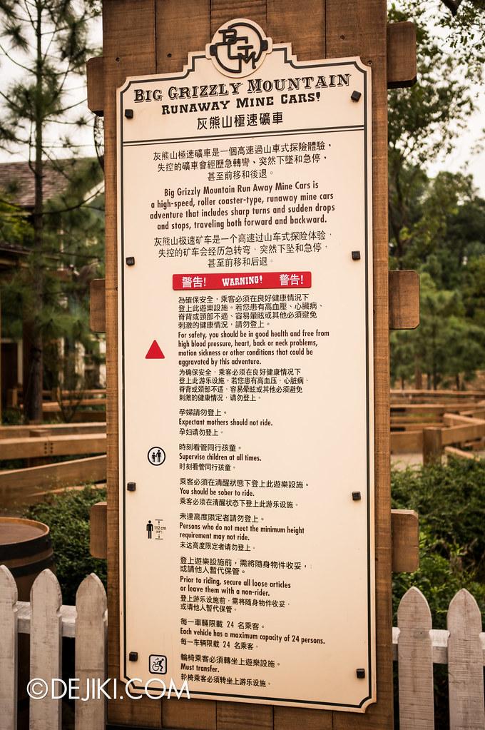 BGM Ride info board