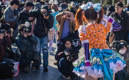 Comiket 83 cosplay of Harajuku street snap fashion.