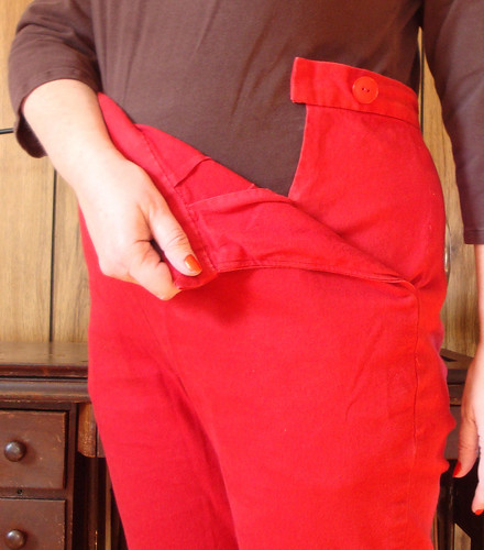 Red Pants Pocket Secret