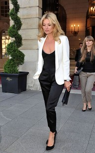 Kate Moss White Blazer Celebrity Style Women's Fashion