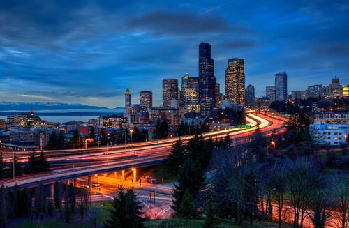 seattle blue winter pugetsound washingtonstate hdr freeways elliotbay interstate5 olympicmountains interstate90 winterinseattle hdrphotography rizalbridge drjoserizalbridge canonrebelxsi seattlehdr urbancityscapes fresnatic seattlebluehour columbiabanktower seattle12thstreetbridge