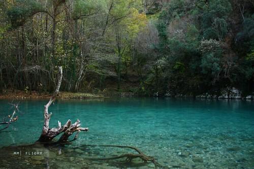 blue nature river hellas greece zagora epirus voidomatis