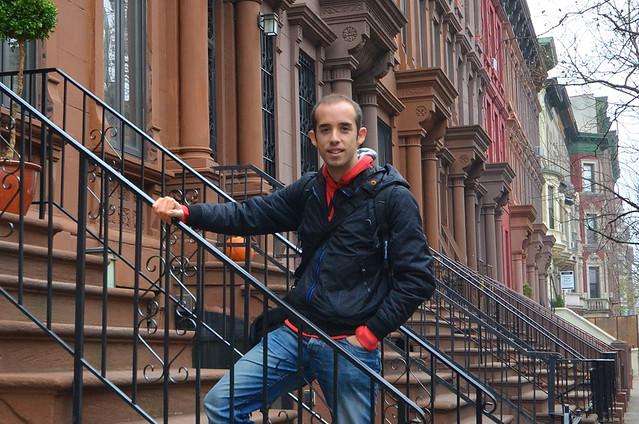 En una de las casas de la barriada de Brown Stones de Harlem en Nueva York