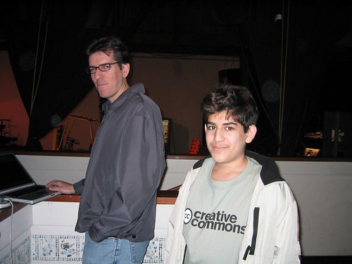 Matt Haughey and Aaron Swartz at CC Launch – December 2002