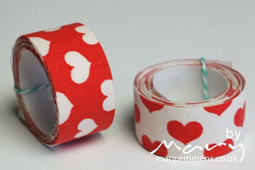 Heart fabric tape - just right for your valentine
