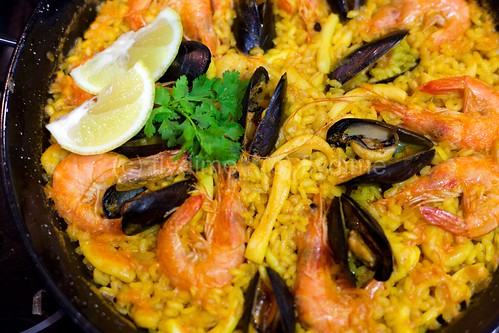 Paella with seafood / Spain
