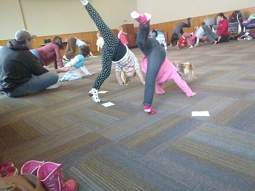 Vivianne and Lilah at Yoga Storytime
