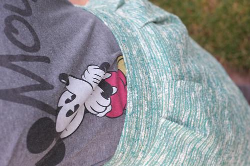 Disney Store mickey mouse tshirt, Zara tulip skirt