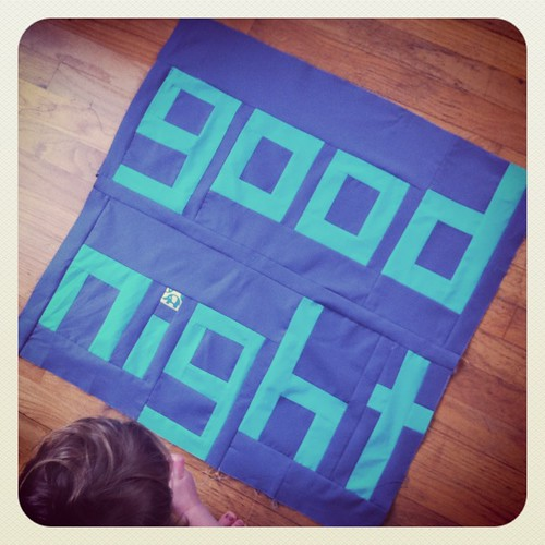 "My finished ""good night"" section"