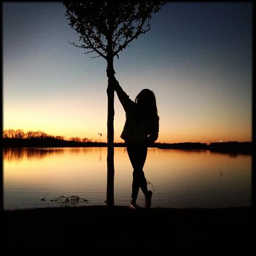 park sunset reflection silhouette noflash memorialpark hipstamatic janelens sugarfilm sugarlandmemorialpark