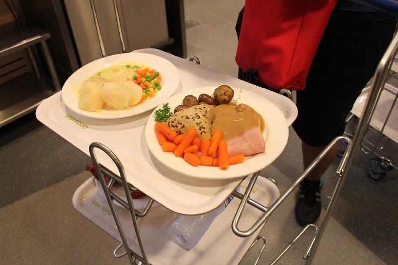 Trays of Food in Ikea