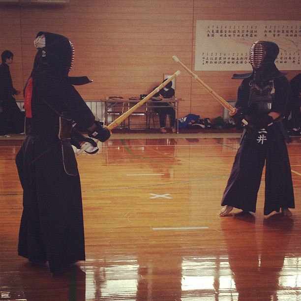 Japanese young Jedis. Kendo is like a more badass version of Star Wars lightsaber battles.