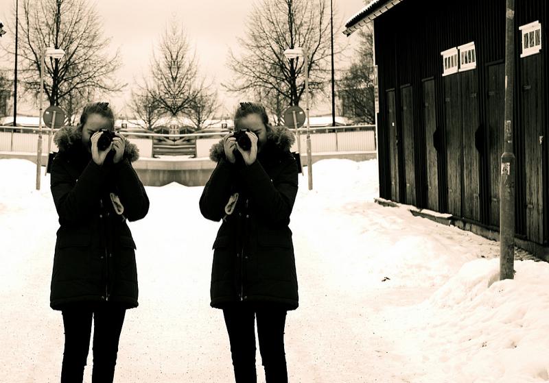 i snö
