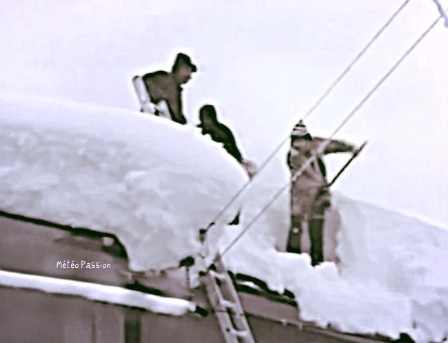 dégagement des toits après la neige des 30 et 31 janvier 1986 météopassion