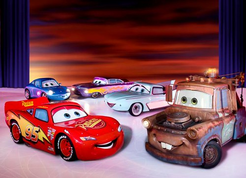 Lightning McQueen, Mater, Sally, Flo and Ramone_jpg