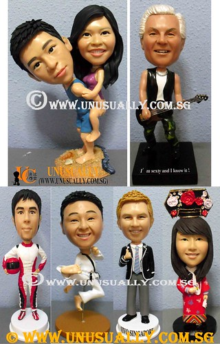 Personalized 3D Sweet Male & Female Figurines - @www.unusually.com.sg