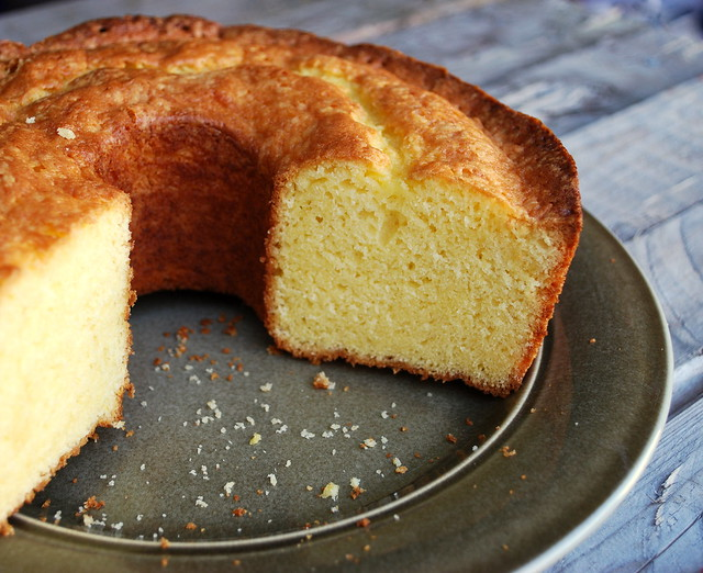 German Butter Pound Cake cut