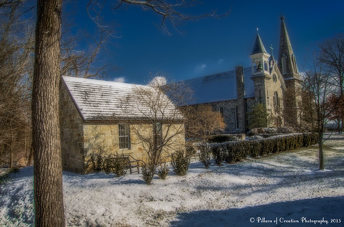 A Light Dusting of Snow - St John's Episcopal Church - Ellicott City, MD by Pillars of Creation Photography