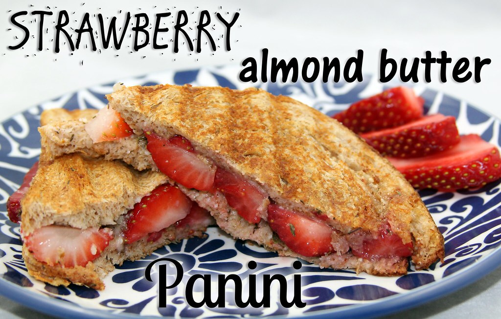Strawberry, Almond Butter, and Parmesan Panini Sandwich Recipe