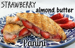 Strawberry Almond Butter Parmesan Panini recipe