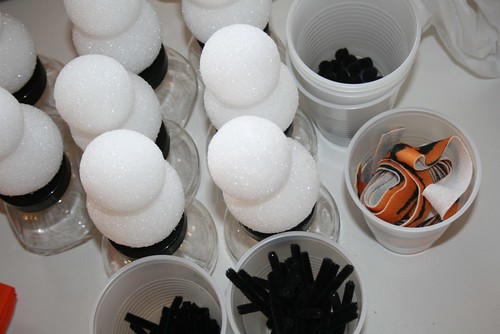 Snowman jar - parts