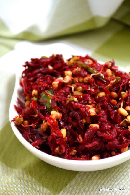 Beetroot Sprouts Stirfry