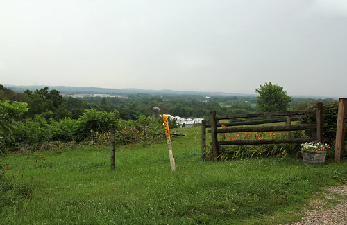 landscape scenic valley pleasant view panorama vista fields farms fence wire split rail trees hills mountains plateau allegheny foothills piedmont silo forest rain union township licking county ohio james road