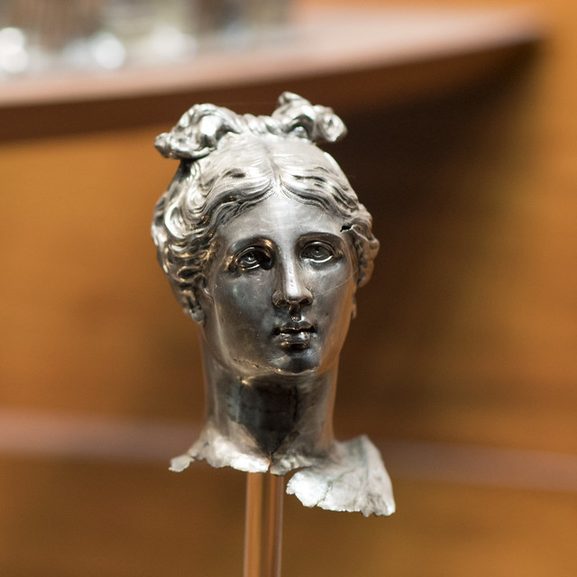 Silver head of a goddess, from the Marengo Hoard