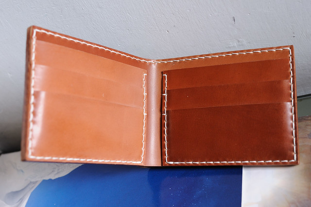 Genuine Horween Shell Cordovan Wallet (Natural Color)