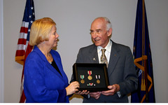 Rep. Miller presents WWII medals to William Pollauf honoring his service