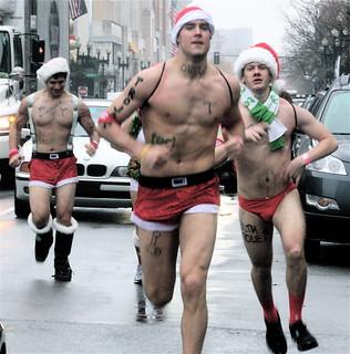 boston santa speedo run 2012 1