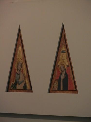 DSCN3294 _ Arcangelo Gabriele e Vergine annunziata, c 1350-55, Simone di Filippo detto dei Crocefissi