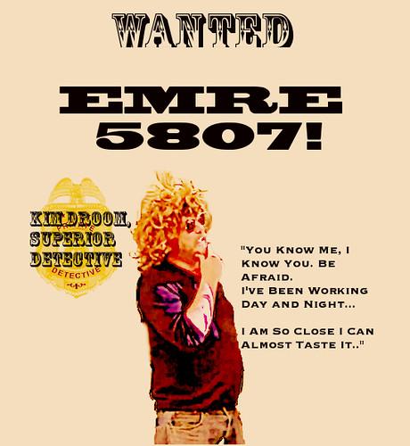 Kim Droom: EMRE WantedPoster