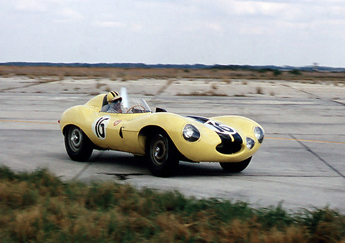 Jag D-type at Sebring 1956 by Nigel Smuckatelli