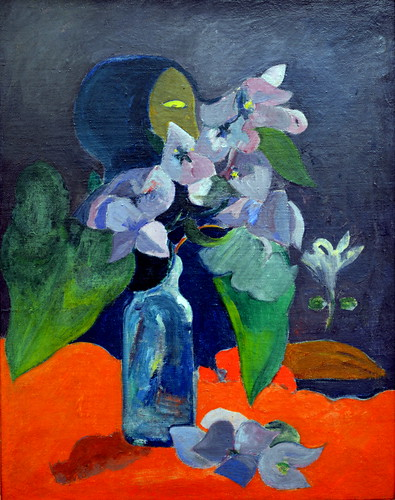 Paul Gauguin - Nature morte aux fleurs et a l'idole, 1892 at Kunsthaus Zürich - Zurich Switzerland by mbell1975