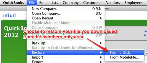 mac step 1 - restore quickbooks file for landlords