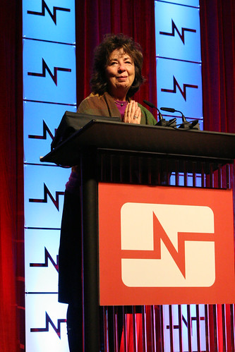 RoseAnn DeMoro, NNU Executive Director, welcomes delegates to the 2012 NNU Convention