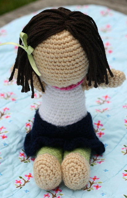 Lola the crocheted doll