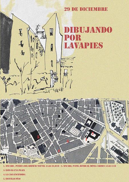 Dibujando por Lavapies, Madrid