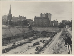 Construction of train tunnel, Hyde Park, 1923