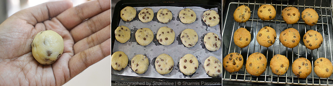 How to make choco chip cookies - Step4