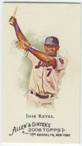 2008 Allen & Ginter Jose Reyes Mini